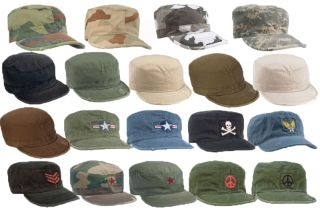 Vintage Military Patrol Fatigue Army Cap Hats