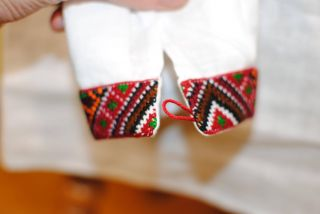 Ukrainian Hand Embroidery Man Vyshyvanka Linen Shirt Handmade Embroide