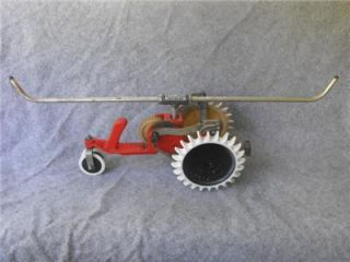 Vintage Thompson Cast Iron Tractor Lawn Water Sprinkler