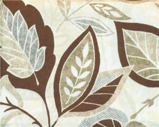 Shower Curtain Allen Roth Middlebury Leaves Brown Gray Green Beige 70