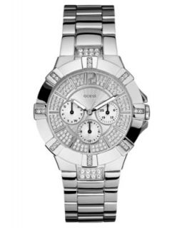 GUESS Watch, Womens Silver Tone Bracelet G75511M   All Watches