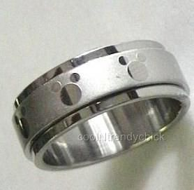 Stainless Steel Mickey Mouse Spinner Ring