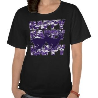 Happy Happy Happy Purple Camouflage With Deer T shirt
