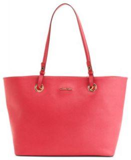 Calvin Klein Handbag, Exclusive Leather Tote   Handbags & Accessories