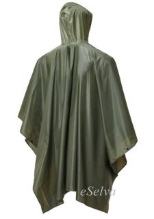 New Military Waterproof Rain Poncho Army Smock Jacket Hooded Olive