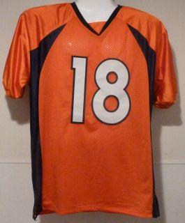 Peyton Manning Autographed Signed Denver Broncos Orange Size XL Jersey