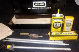 Vintage Mill Run Brite Bore Pistol Gun Shot Gun Cleaning Kit