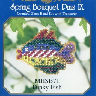 Fish Beaded Cross Stitch Kit Mill Hill 2002 Spring Bouquet