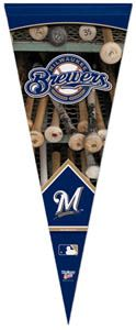 MILWAUKEE BREWERS BATRACK Dual Logo Premium Collectors MLB Felt