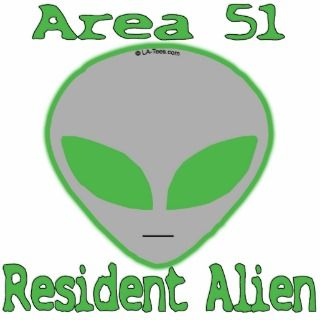 Area 51 Resident Alien Photo Cut Out