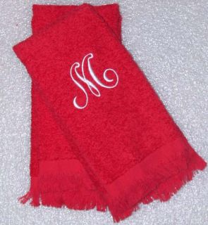 Personalized Monogrammed Fingertip Guest Towels
