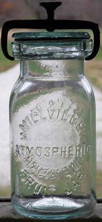 Pint Millville Atmospheric Fruit Jar Aqua