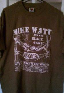 MIKE WATT & BLACK GANG~VINTAGE ORIG 1998 TOUR SHIRT~ALL COTTON~XL~USED