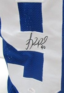 Jason Pierre Paul Signed New York Giants Custom Blue Jersey JSA
