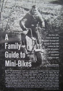 Chopper Heathkit Boonie Honda MINI Trail BIKE Fox Marauder GUIDE