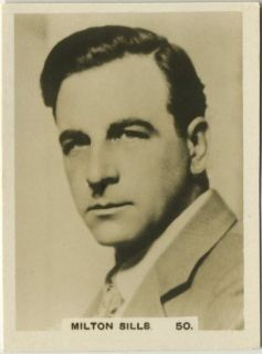 Milton Sills 1932 Hill Series D Movie Star Tobacco Card