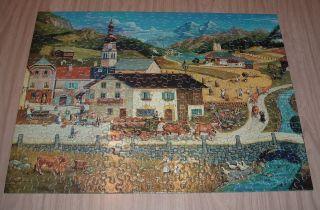 Swiss Village Bob Pettes Milton Bradley 300 Piece Jigsaw Puzzle Hasbro