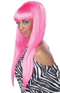 Sexy Nicki Minaj Bubble Gum Halloween Costume Wig Hot Pink