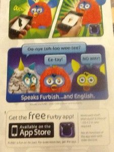 2012 Furby Cotton Candy Pink Teal Blue Purple Works w iPhone Pad Ships