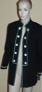Ming Wang Black Green Jacket Size M