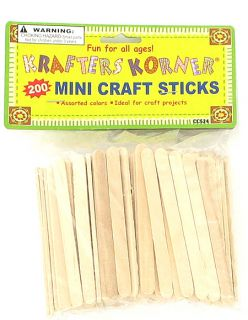 New Wholesale Case Lot Mini Wood Craft Sticks Projects