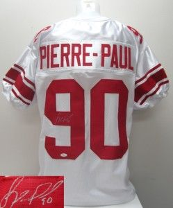 Pierre Paul Signed New York Giants Custom White Jersey JSA