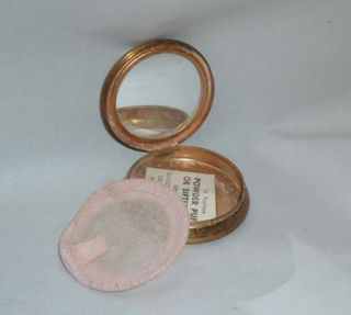 Vintage MO Pearl Fifth Avenue N Y Miniature Powder Compact
