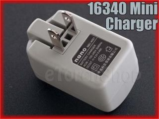 Nano Mini 16340 Charger with 2 x 880mAh Rechargeable Battery CR123A