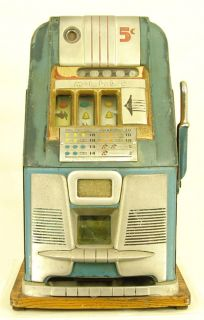 1950 Mills High Top Nickel Antique Slot Machine Nice