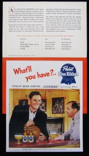 1950 Pabst Brewing George Mikan Advertising Promo