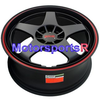 17 XXR 962 Black Staggered Rims Wheels Nissan 240sx S13