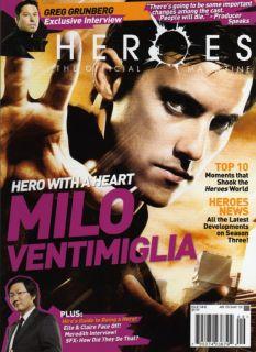 Heroes NBC TV Official Magazine 9 Milo Ventimiglia Cvr