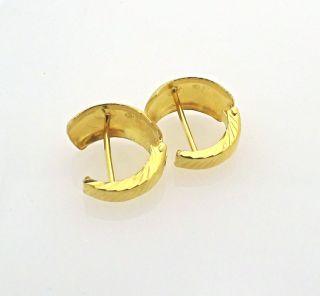 Solid 21K Yellow Gold Huggie Hoop Earrings 3 3 GR