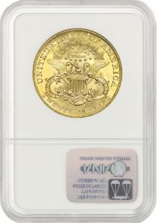 Liberty NGC MS65 Gem Graded Double Eagle Gold Philadelphia Coin