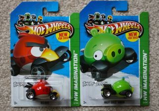 Hot Wheels 2012 New Models Lot of Two Both Angry Birds Editions Very