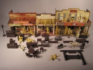Vintage Marx 1952 Roy Rogers Mineral City Western Town w 56 Pieces
