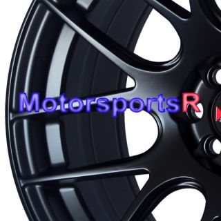 XXR 530 Flat Black Concave Rims Wheels Stance 03 04 05 06 Scion xB xA