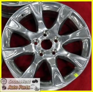 2011 Ford Fusion 17 Polished 8 Spoke Take Off Wheel Factory Rim 3856