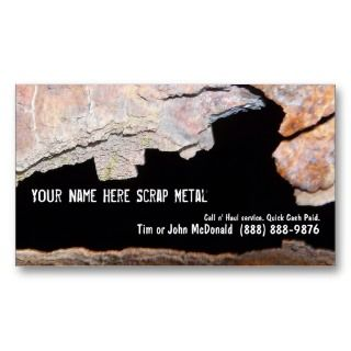 Metal Recycler Scrap   Rusted Pipe Business Card