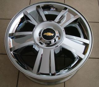 Silverado Avalanche Suburban 1500 20 Chrome Clad Wheels 2009 2012