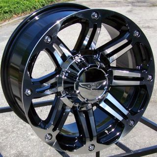 17 Gloss Black Wheels Rim 2007 Up Jeep Wrangler JK 4x4