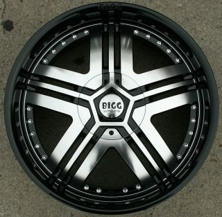 Bigg Liar 407 20 Black Rims Wheels 2WD Blazer s 10 Jimmy GM 20 x 8 5