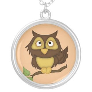 Owl Sterling Silver Necklace Pendant