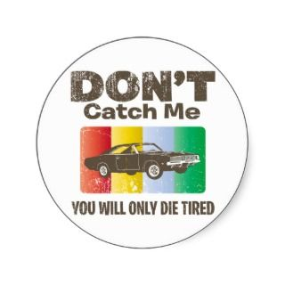 1969 Dodge Hemi Charger Round Sticker