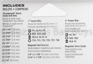 NEW Milwaukee 37 Piece BLACK OXIDE Drill & Drive Bit Set FREE Priority