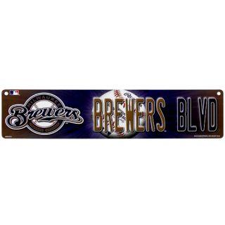 Milwaukee Brewers 4 x 16 Street Sign