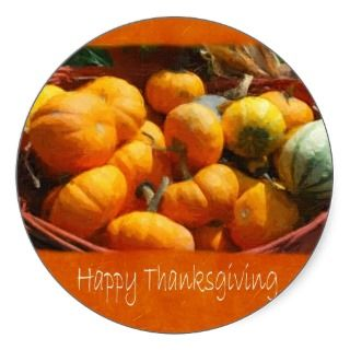 Thanksgiving Harvest 4   Happy Thanksgiving Stickers