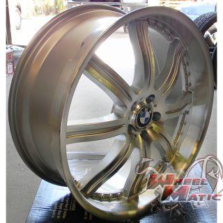 22 Luxe LX8 Wheels Rims Silver Machine