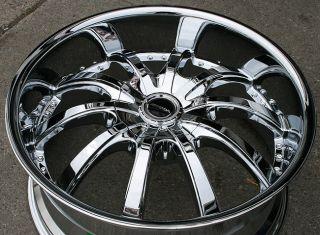 Strada Sole 22 Chrome Rims Wheels Acura MDX RDX