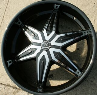 DRACO KR11 22 BLACK RIMS WHEELS EXPEDITION 03 up / 22 x 9.5 6H +30